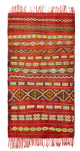 Moroccan Vintage Kilim Rug Zemmouri Pure Wool Handwoven Large 180 cm x 100 cm / 6 ft x 3.3 ft
